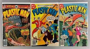 Group of 3 DC Comics Plastic Man Comic Books