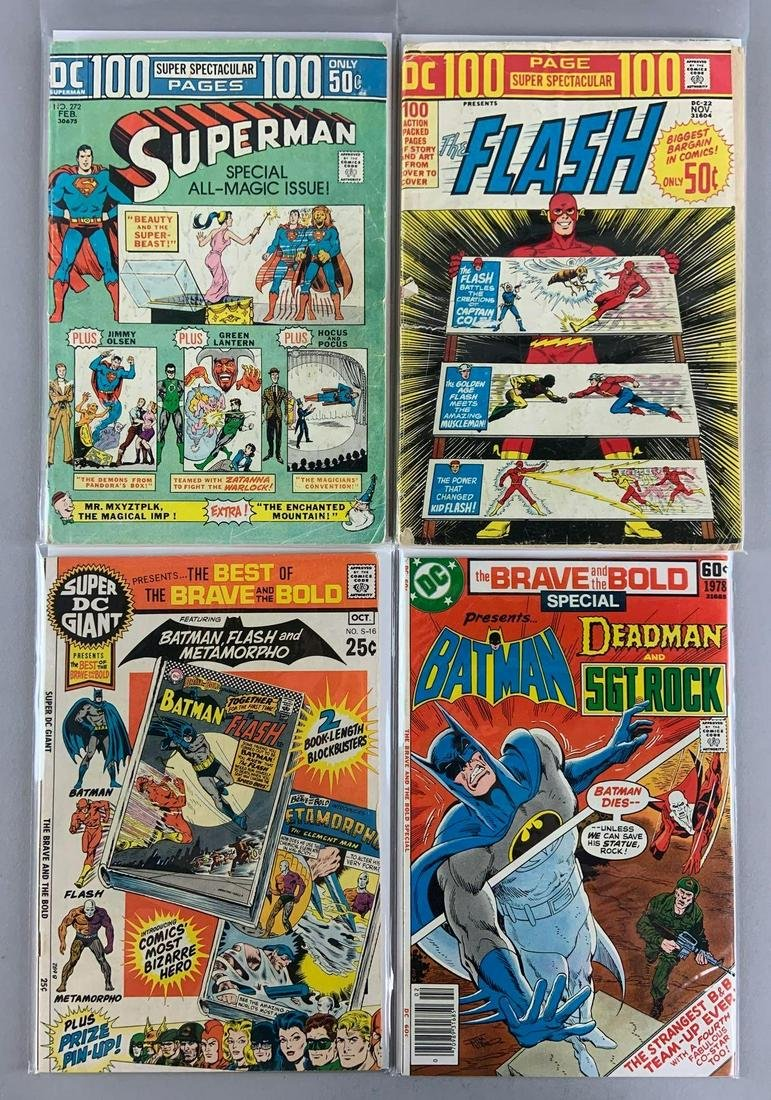 Group of 4 DC Comics 100 Pages Super Spectacular Comic