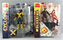 Group of 2 Marvel Select X-Men Action Figures in