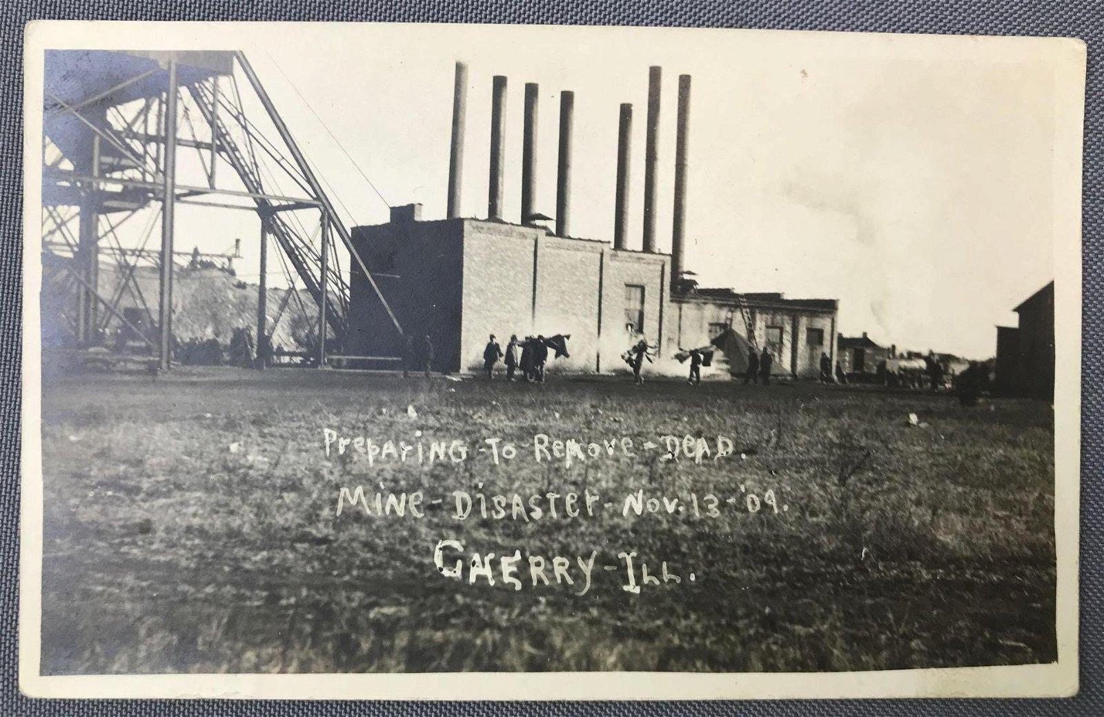 Postcard-RPPC, Cherry Mine Disaster