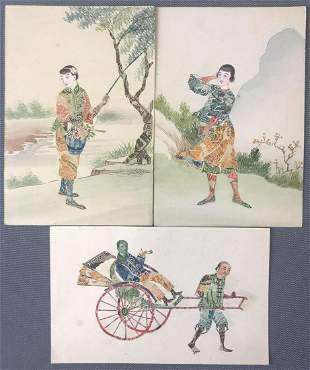 Postcards-Chinese Stamps