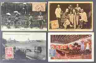Postcards-China/Japan postally used