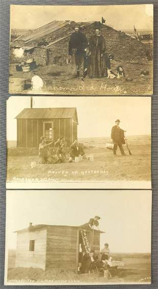Postcards-Sod Houses, Claims