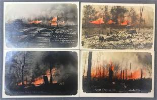 Postcards-Disaster, Forest Fire, Presquile MI