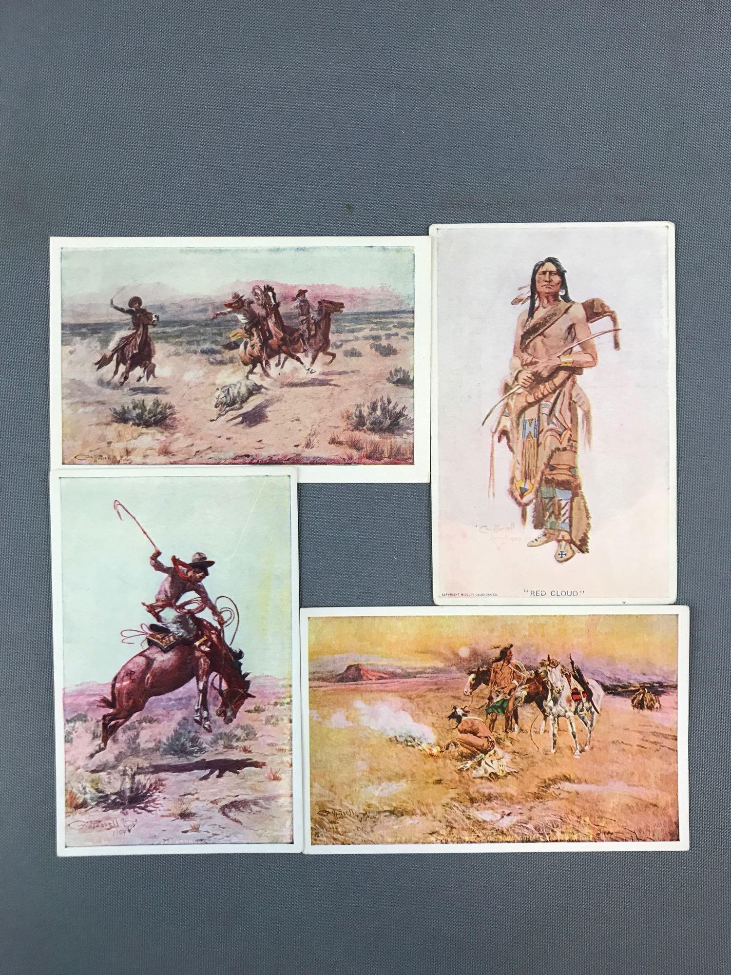 Postcards-Native Americans, Cowboys