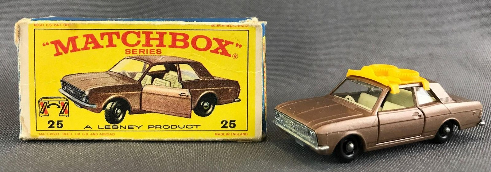 Matchbox No. 25 Ford Cortina Die-Cast Vehicle with