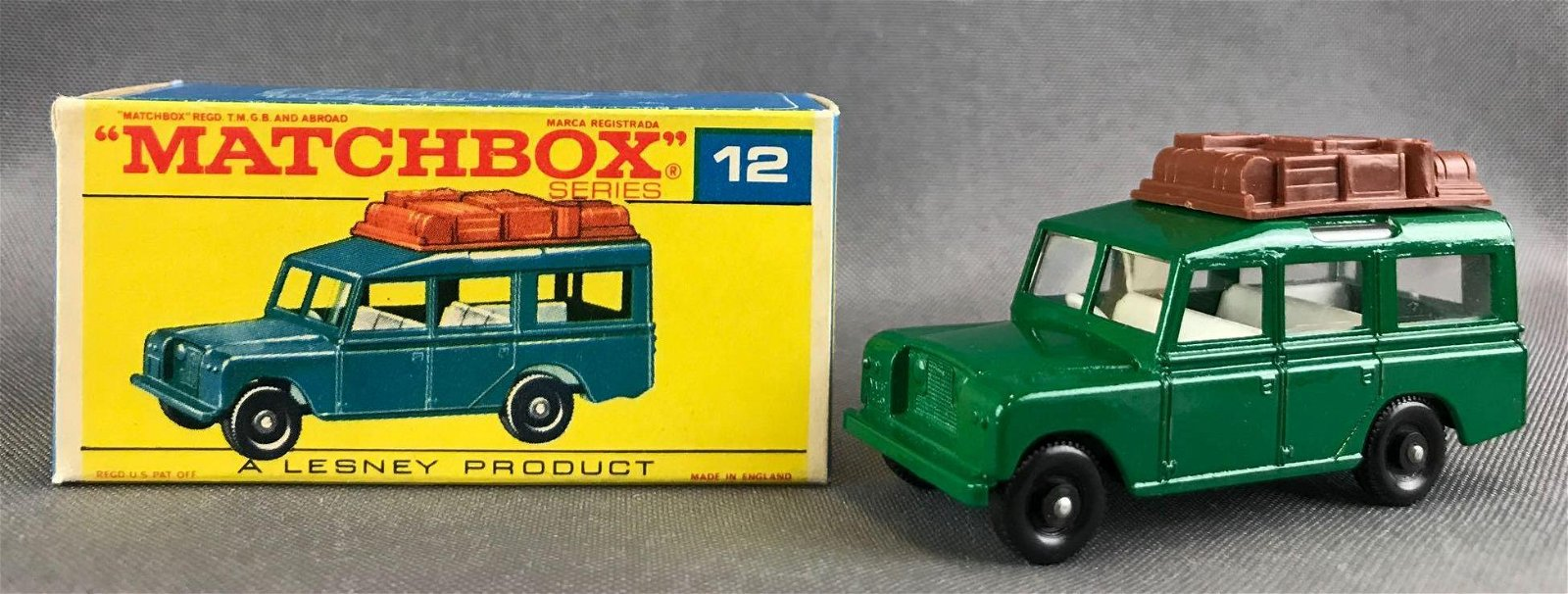 Matchbox No. 12 Safari Land Rover Die-Cast Vehicle with
