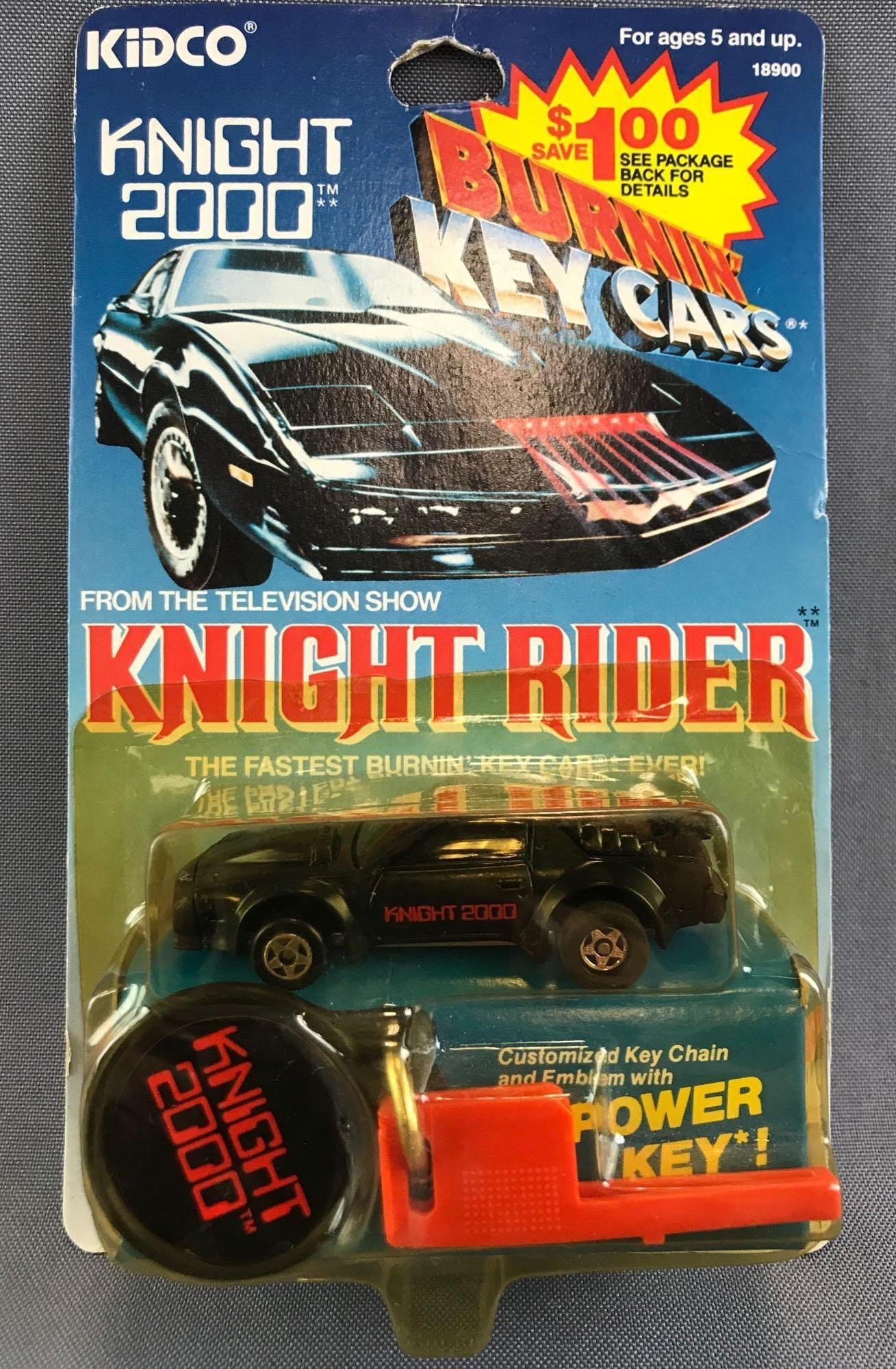 Kidco Burnin Key Cars Knight Rider Knight 2000 Die-Cast