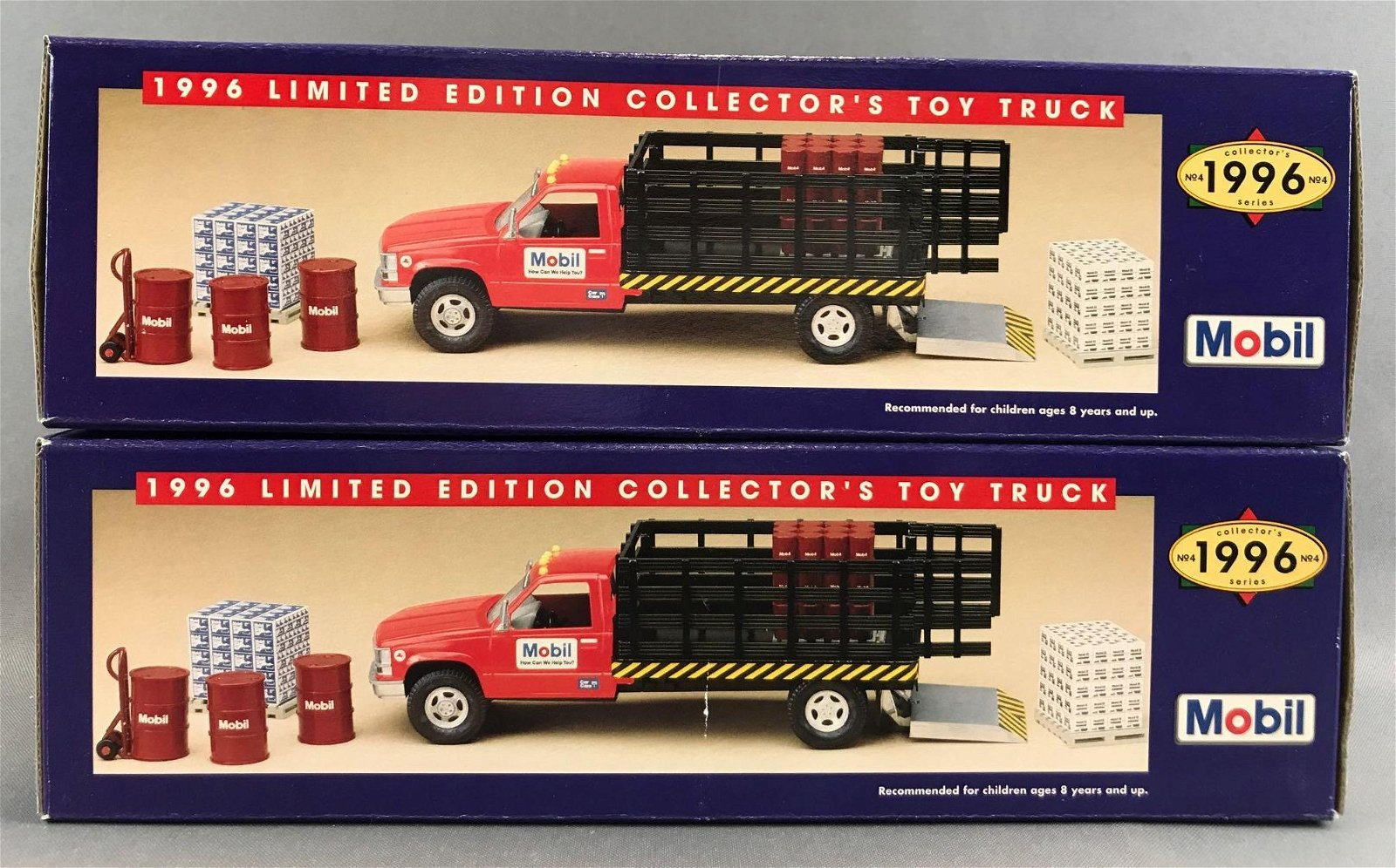 Group of 2 1996 Mobil Limited Edition Collectors Toy