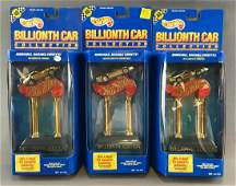 Group of 3 Hot Wheels Billionth Car Collection Trophies