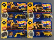 Group of 4 CAT Hot Wheels Action Machines Die-Cast