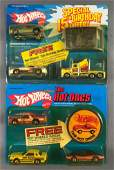 Group of 2 Hot Wheels Promo Sets Die-Cast Vehicles in