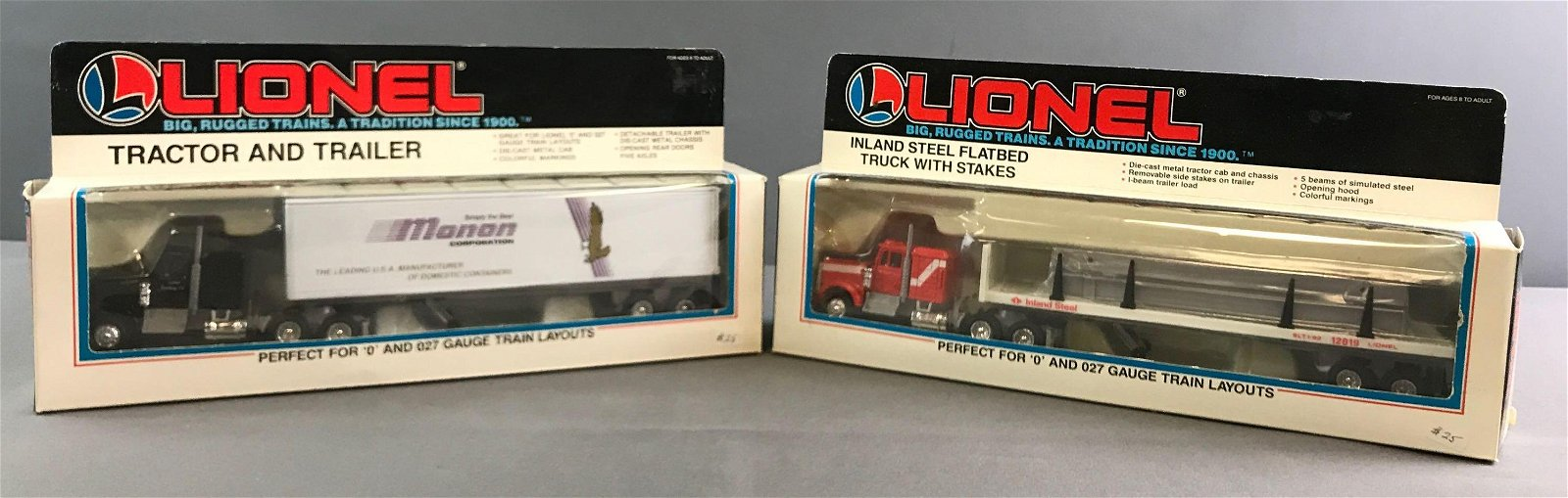 Lionel Die Cast Trucks In Original Packaging