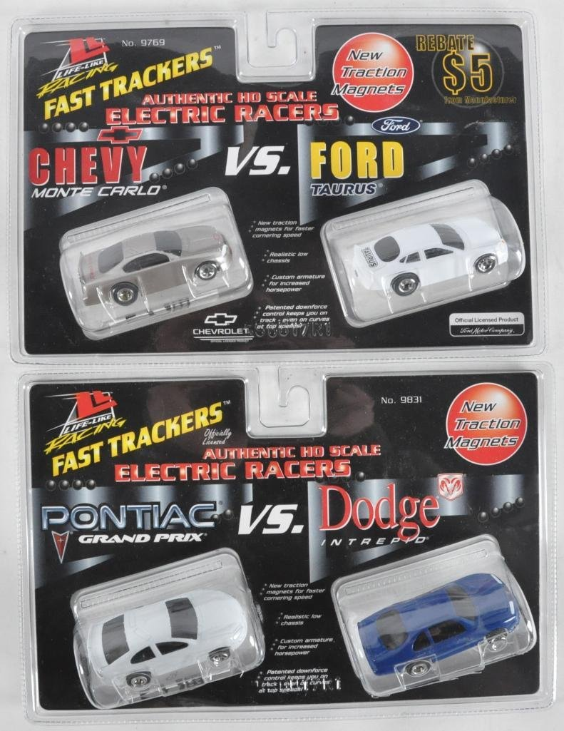 Group of 2 Life Like Racing Fast Trackers HO Slot Car 2
