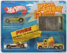 Hot Wheels Special 15th Birthday Offer Gift Set with 3