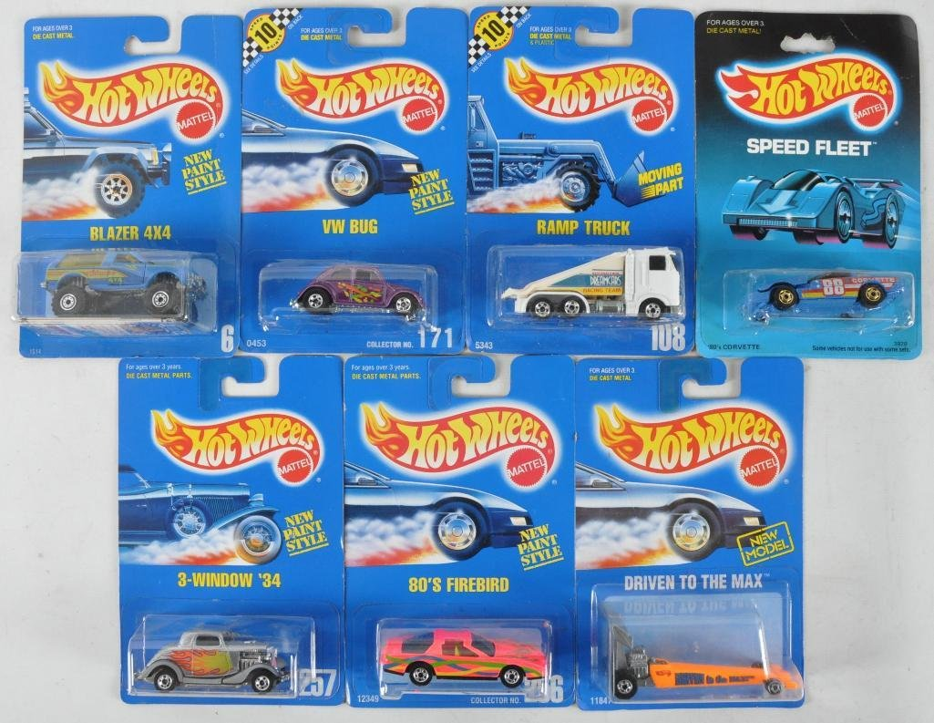 Group of 7 Hot Wheels Die-Cast Vehicles in Original