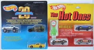 Group of 2 Hot Wheels DieCast Vehicle Gift Sets in