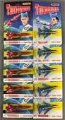 Group of 10 Matchbox Thunderbirds DieCast Vehicles in