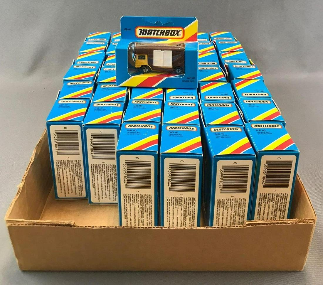 Group of Approximately 40 Matchbox No. MB 40 Horse Box