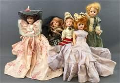 Group of 5 : Vintage Dolls