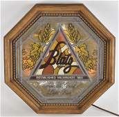 Vintage Blatz Lightup Advertising Beer Sign