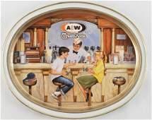 AW Root Beer Advertising Metal Drink Tray