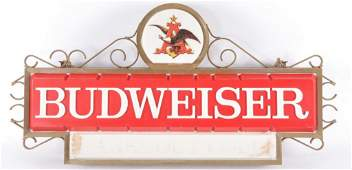 Vintage Budweiser Lightup Advertising Beer Sign