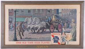 """Vintage Pabst Blue Ribbon """"Fire Fighters"""" Advertising"""