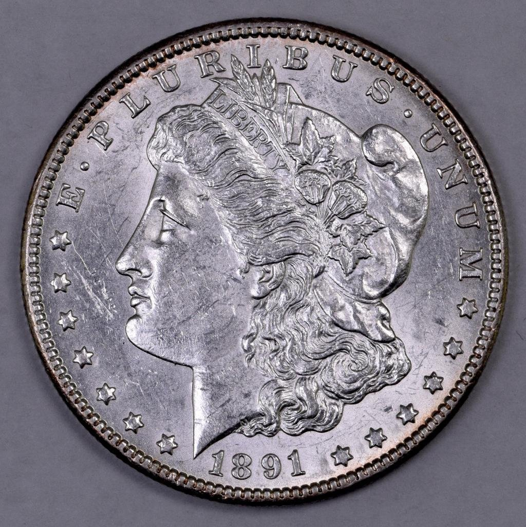 1891 CC Morgan Silver Dollar.