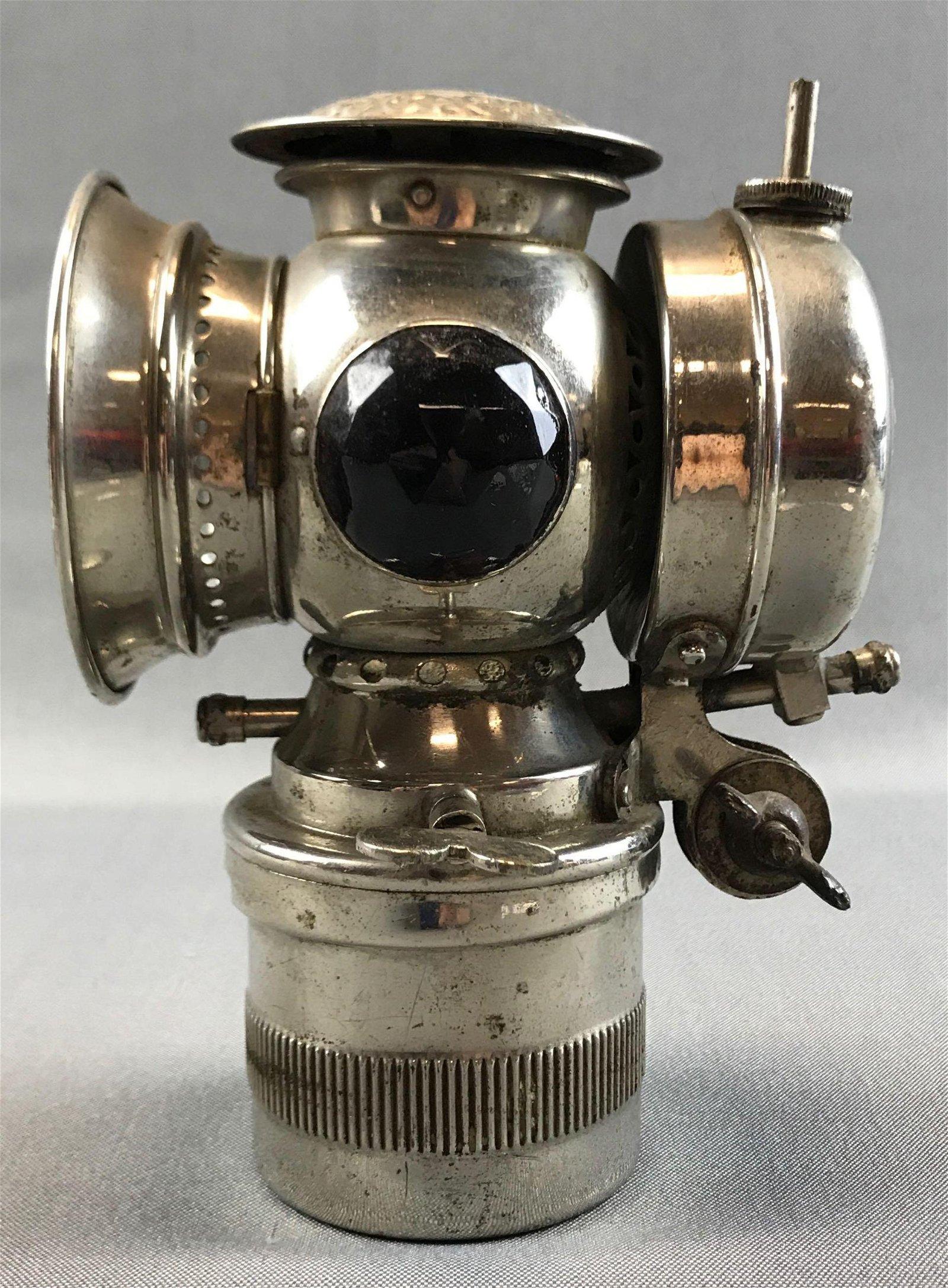 "Antique (1900s) Carbide Bicycle Lamp : ""Model S - Solar"