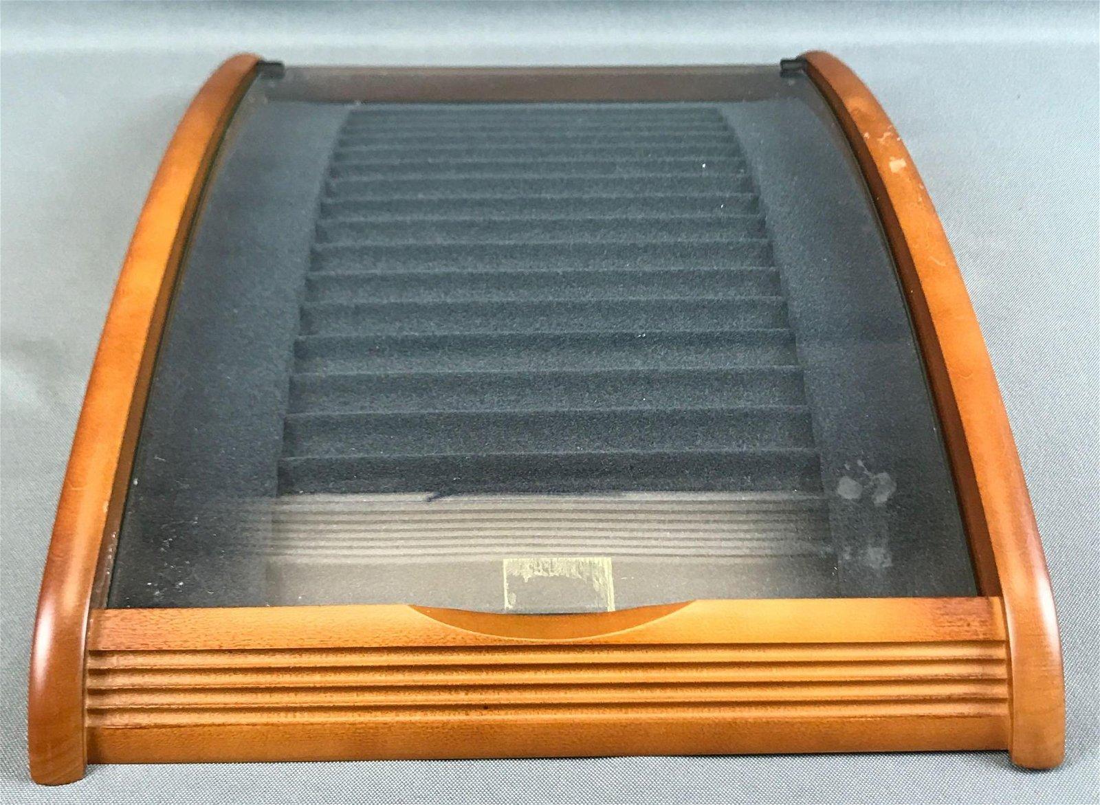 Vintage Curved Countertop Display Case