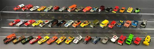 Group of 45+ Hot Wheels Die-Cast Vehicles circa