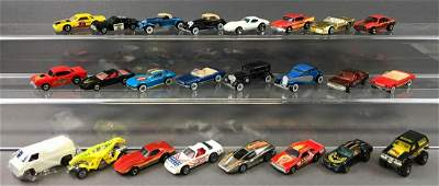 Group of 24 Hot Wheels Die-Cast Vehicles circa