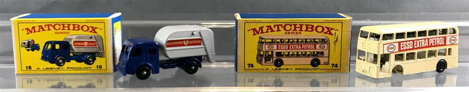 Group of 2 Matchbox die cast vehicles in original boxes