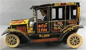 Vintage Hop Inn old jalopy tin car
