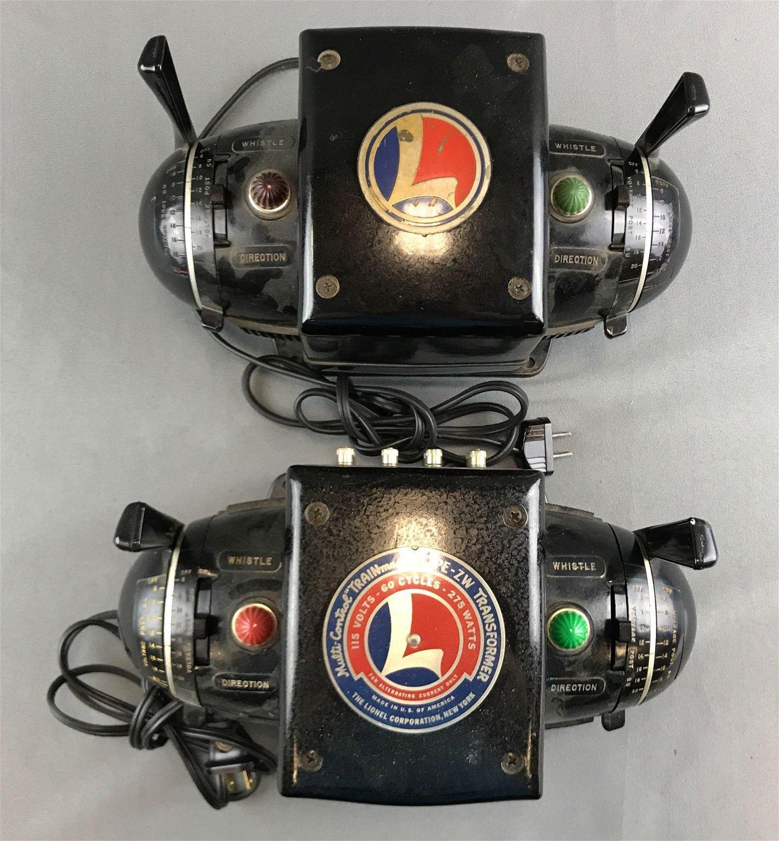 2 Lionel transformers