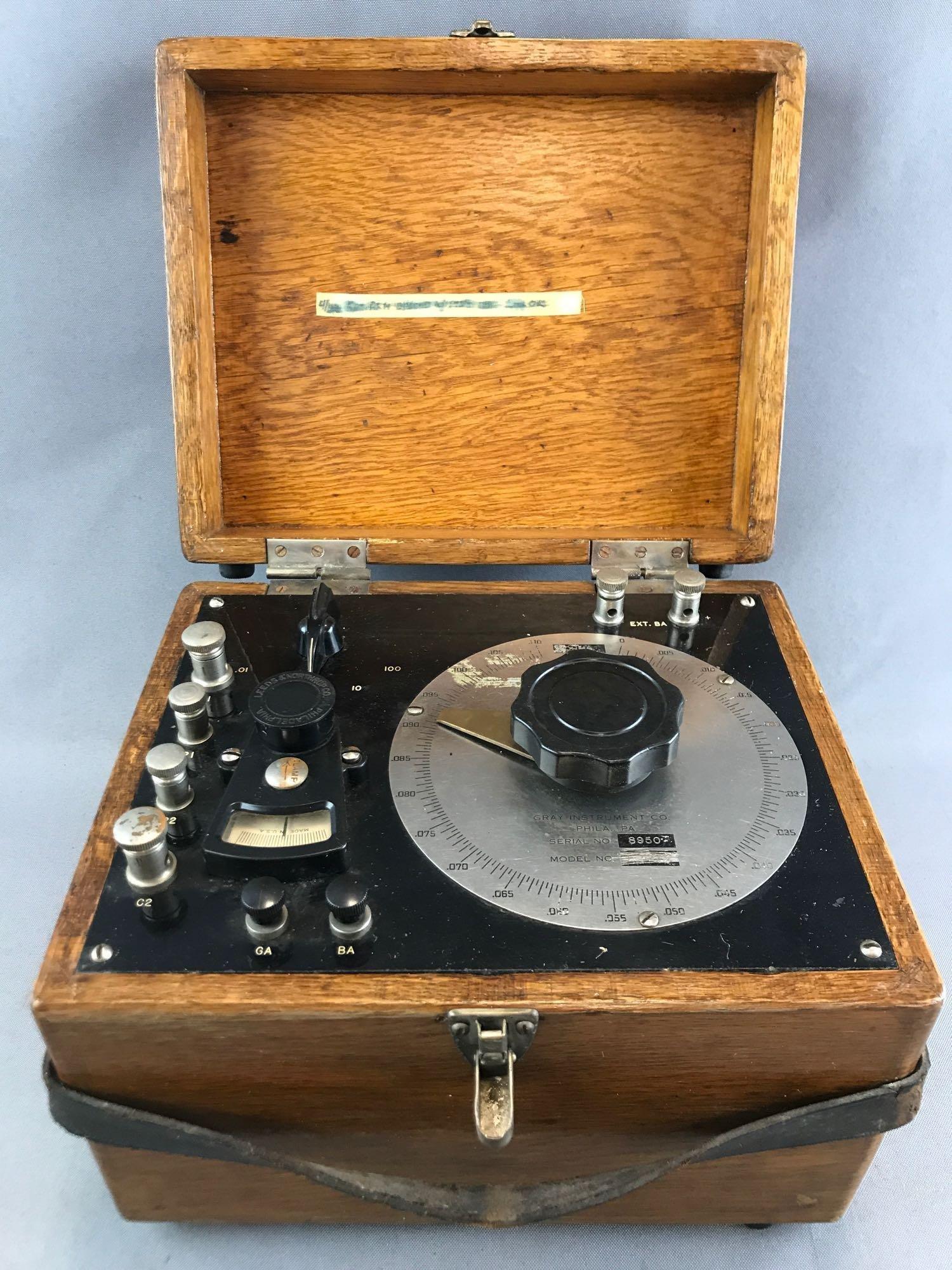 Vintage Gray Instrument Co. Testing Equipment