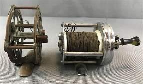 Group of 2 : Vintage/Antique Fishing Reels -