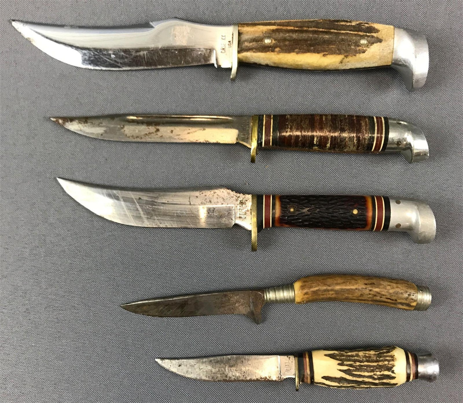 Group of 5 : Vintage Fixed Blade Knives