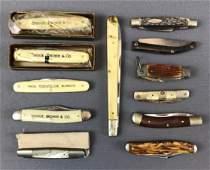 Group of 12 : Vintage Pocket Knives - Some in Original