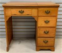 """Vintage Pine Sewing Machine Cabinet w/ """"Pfaff 130"""""""