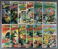Group of 12 DC Comics Adventure Comics comic books