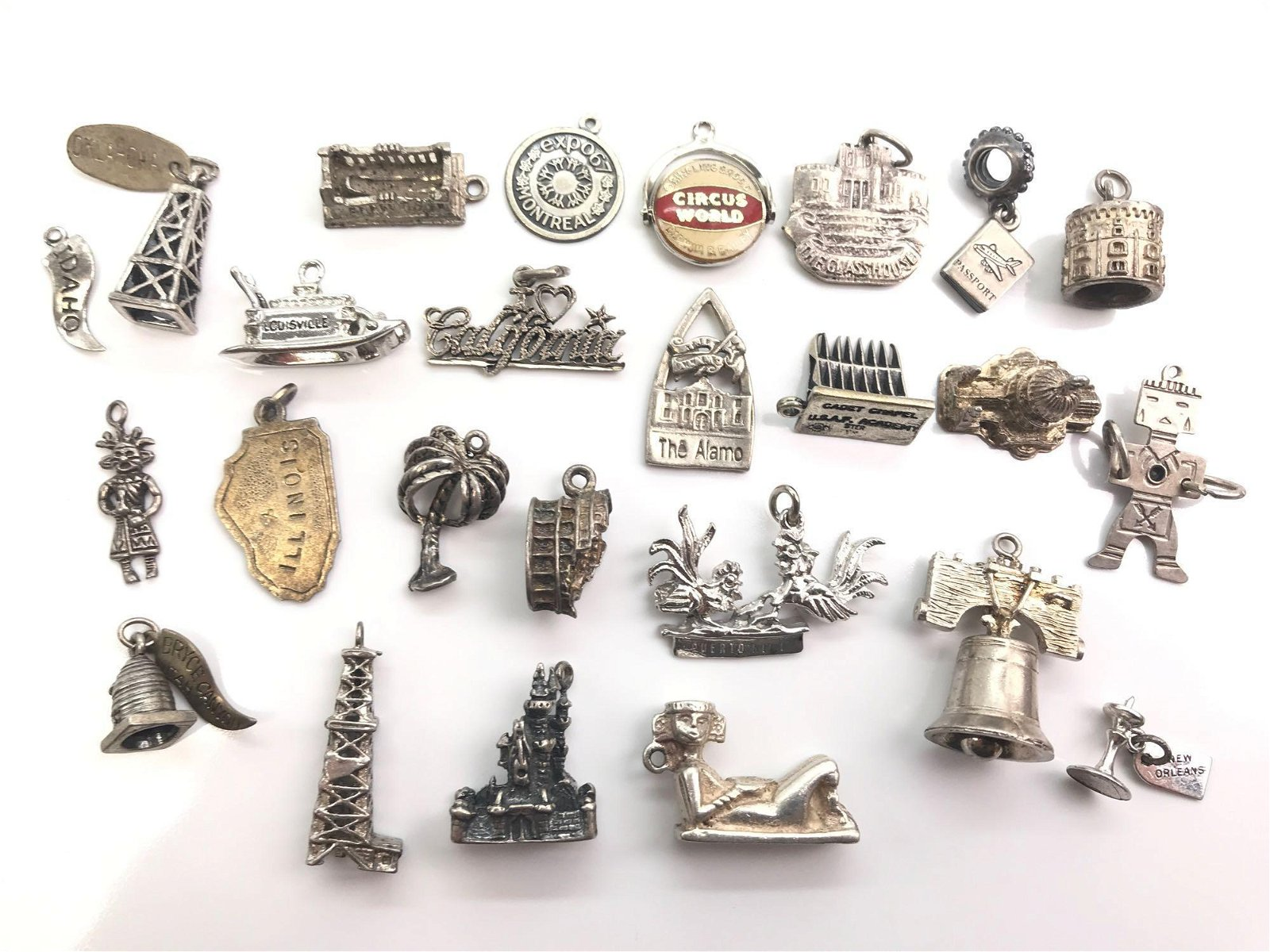 Collection of 25 : Vintage Sterling Silver Charms -