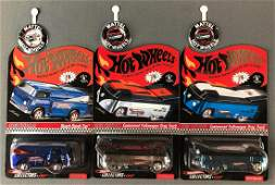 Group of 3 Hot Wheels Red Line Club die-cast vehicles