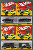 Group of 4 Hot Wheels Red Line Club die-cast vehicles