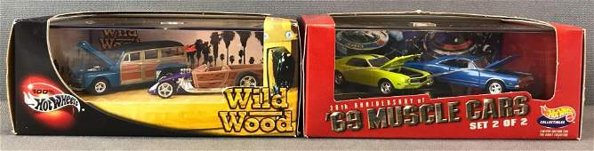 Group of 2 Hot Wheels die-cast vehicle sets in original