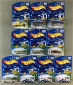 Group of 10 Hot Wheels Treasure Hunt die-cast vehicles