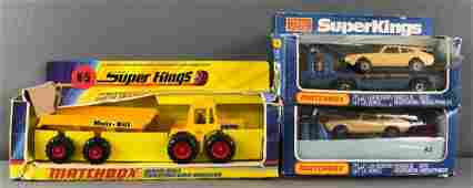 Group of 3 Matchbox Super Kings die-cast vehicles in