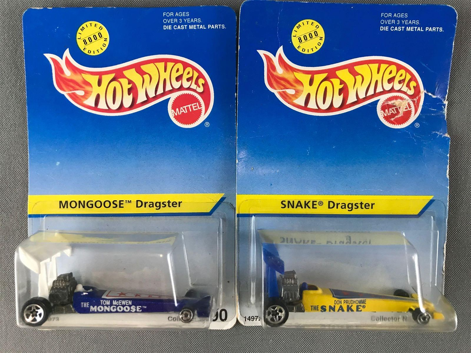 Group of 2 1995 Limited Edition Hot Wheels die-cast