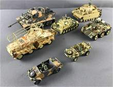 Group of 7 Model Military Armored Vehicles